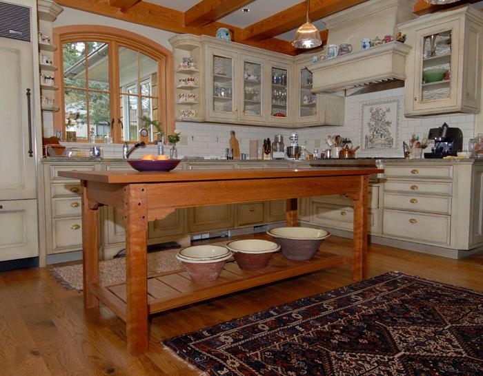 Cherry Kitchen Work Table. Furniture   Willamette Valley Fine Woodworking
